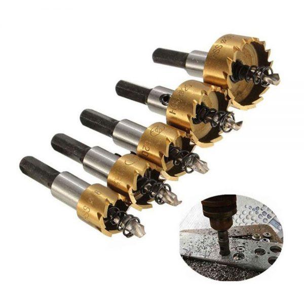 5 Pcs HSS Drill Bit Hole Saw Set