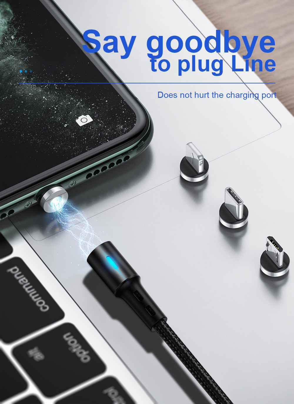 Magnetic Charging Cable Micro USB iPhone USB Type C